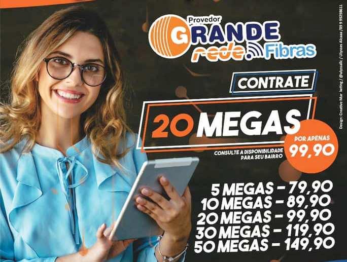 Provedor Grande Rede Fibras lança campanha promocional para clientes durante o mês de fevereiro