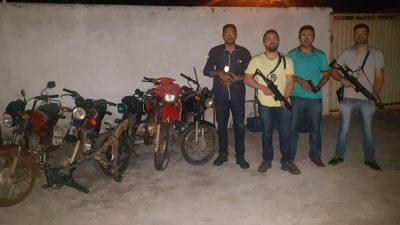 Polícia Civil recupera cinco motocicletas em Valença do Piauí