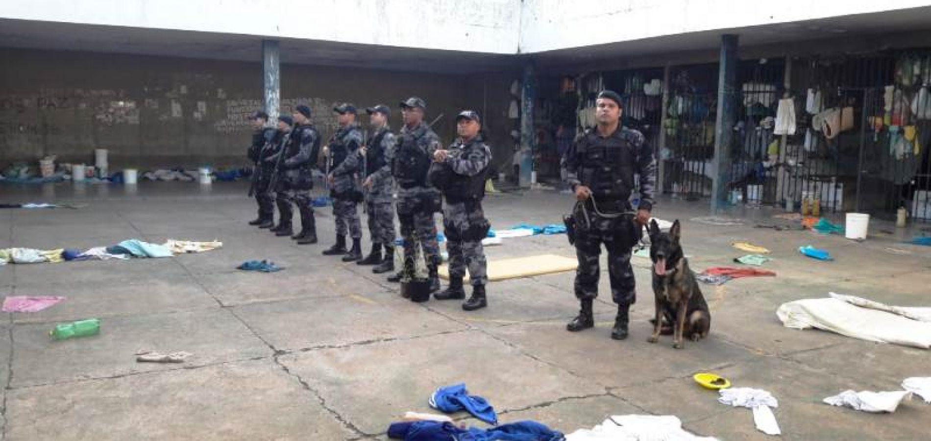 Drogas e armas perfurantes são encontradas na Penitenciária de Picos