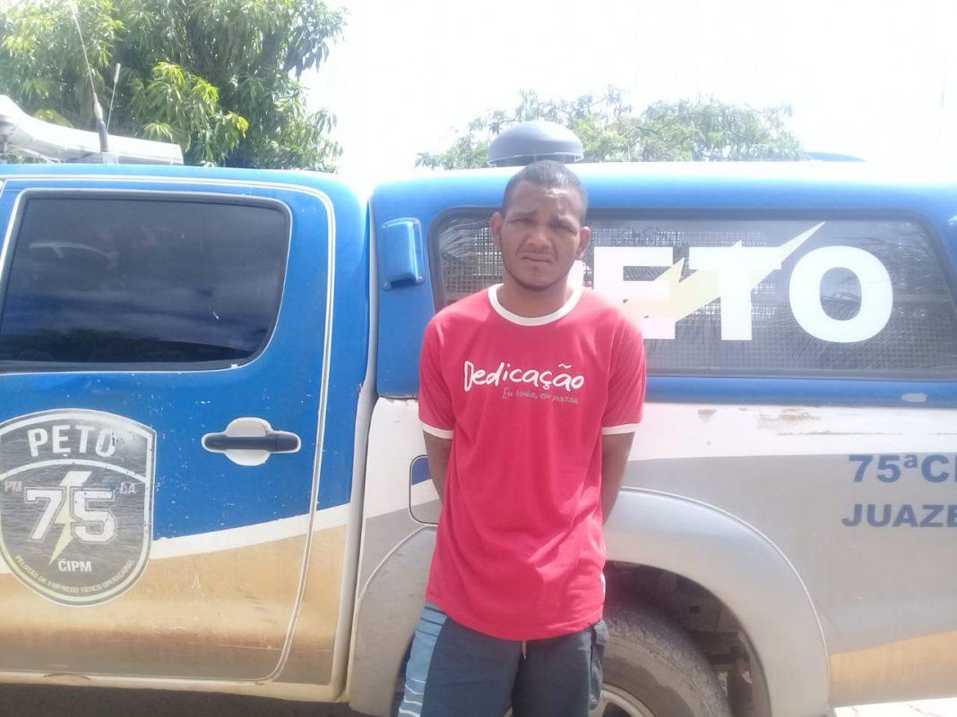 Ação integrada da Polícia Militar de Valença (PI) prende foragido no estado Bahia