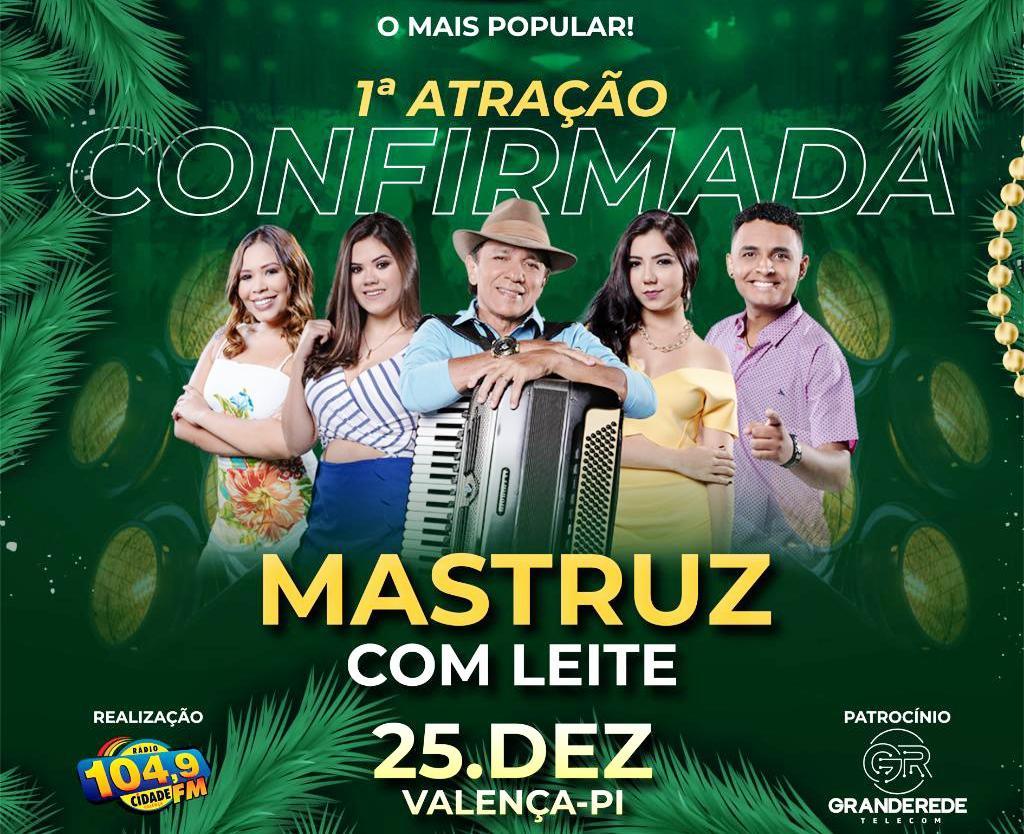 RS Promoções confirma banda Mastruz com Leite no 'Natal da Cidade' em Valença (PI)