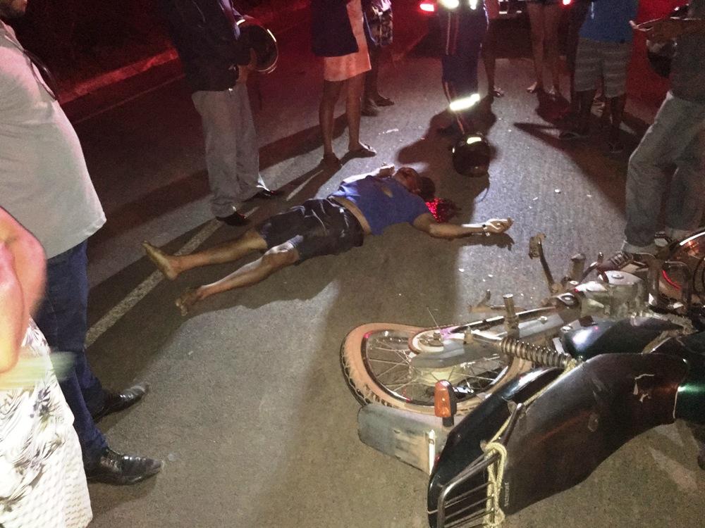 Idoso morre após colisão entre moto e caminhão na PI-120 em Valença