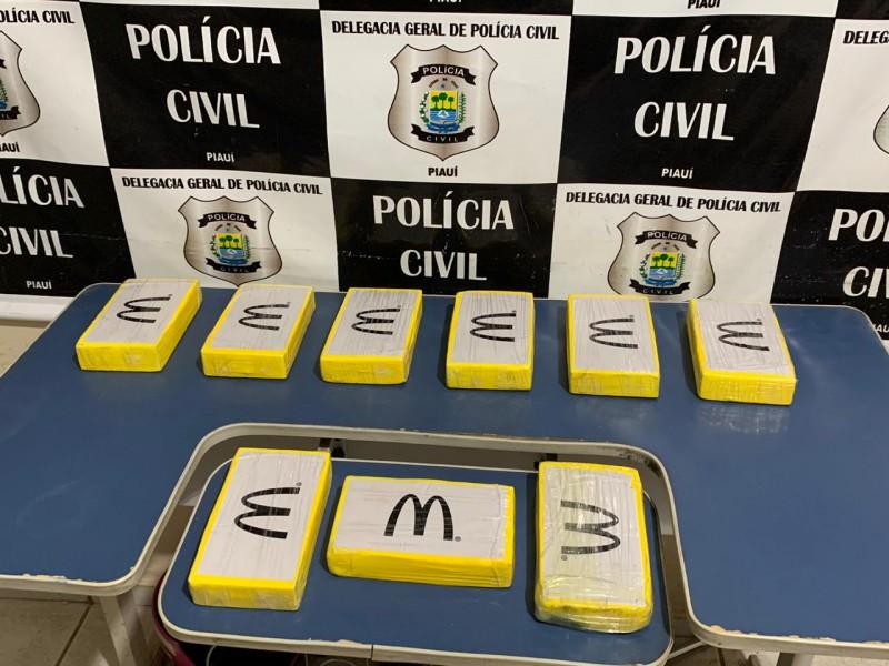 Operação apreende cocaína no terminal rodoviário na cidade Picos