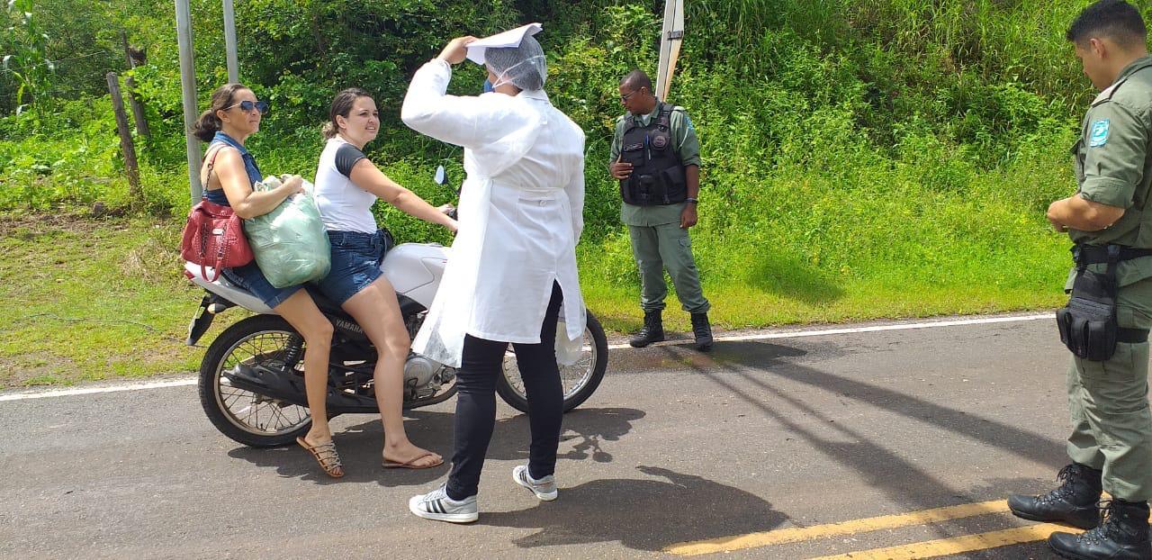 Secretaria de Saúde de Aroazes realiza blitz de Conscientização contra o Covid-19