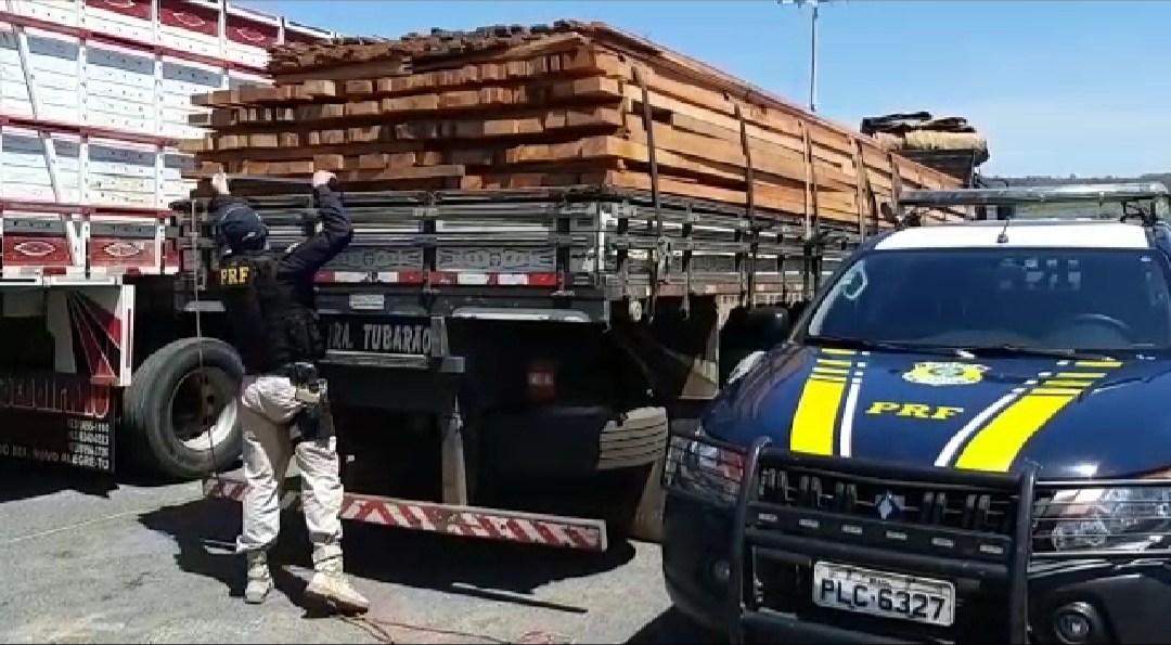 PRF apreende 50 m³ de madeira sem licença na cidade de Valença