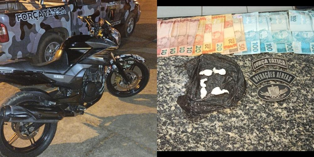 Força Tática prende suspeito de tráfico de drogas em Valença do Piauí