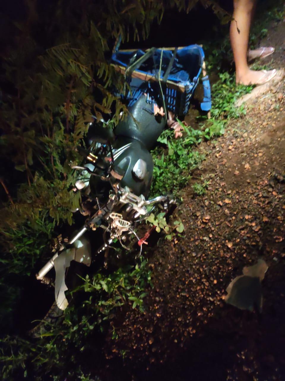 Motociclista fica ferido após acidente em entroncamento de rodovias em Valença, PI